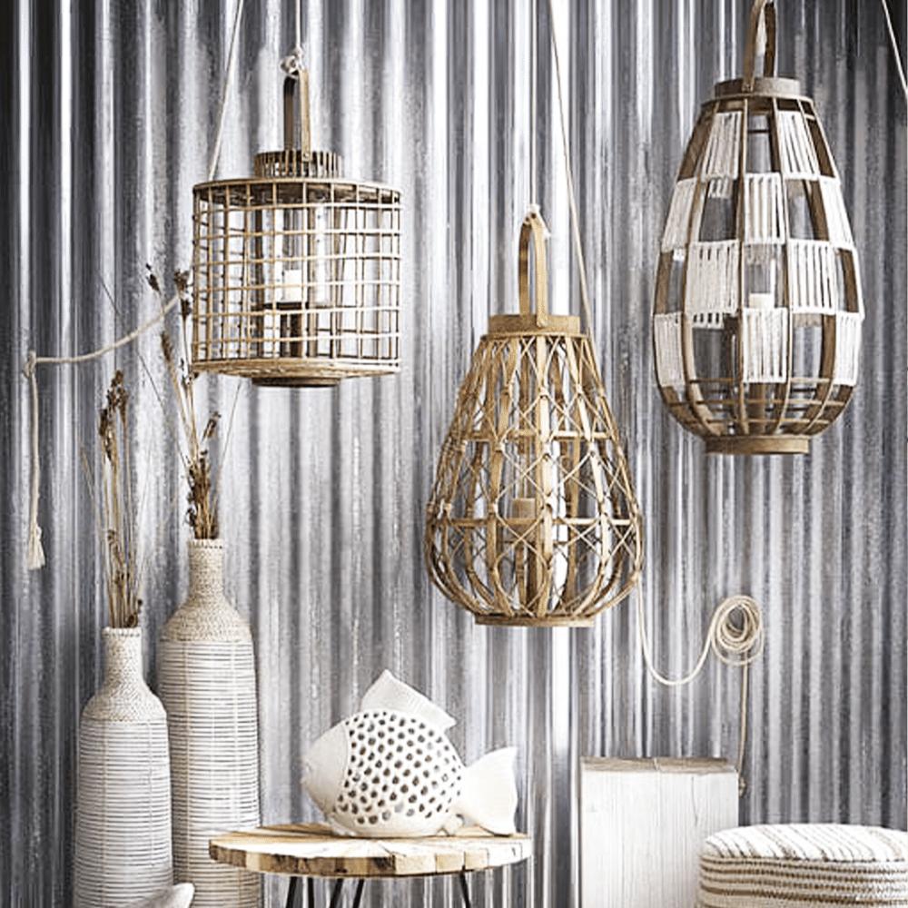 Lanternes en bois marin