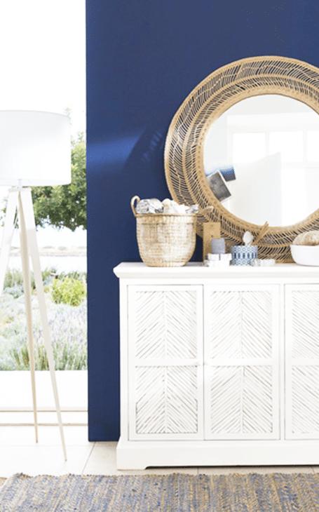 Un salon bleu méditerranée