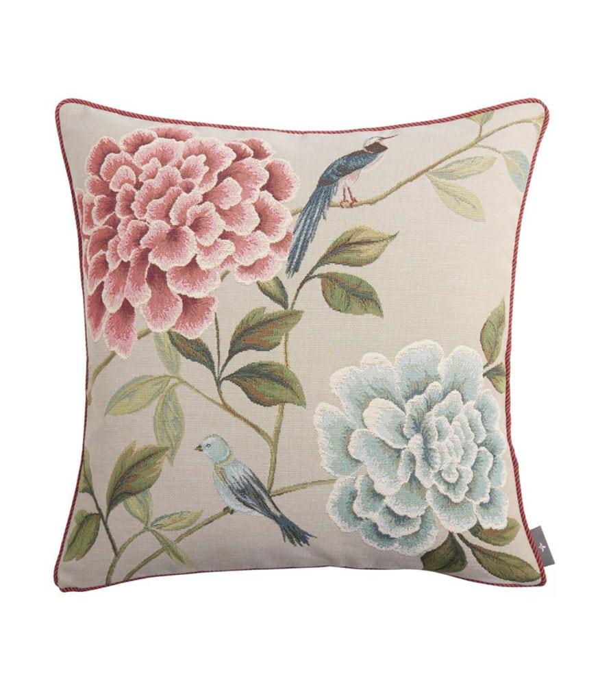 Coussin tapisserie fleurs