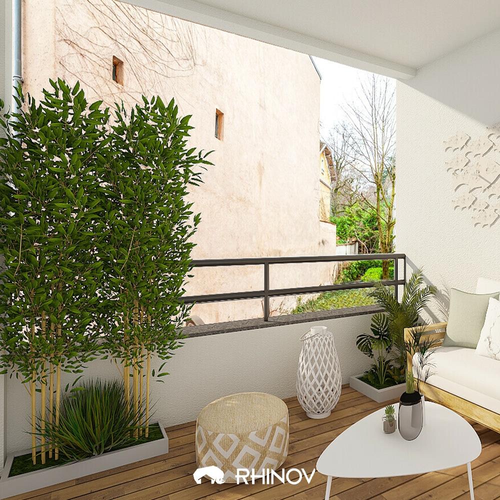 déco plantes balcon