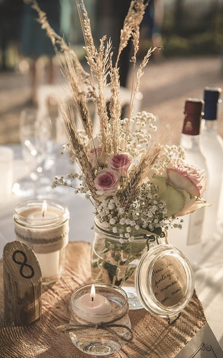 fleurs déco table bohème