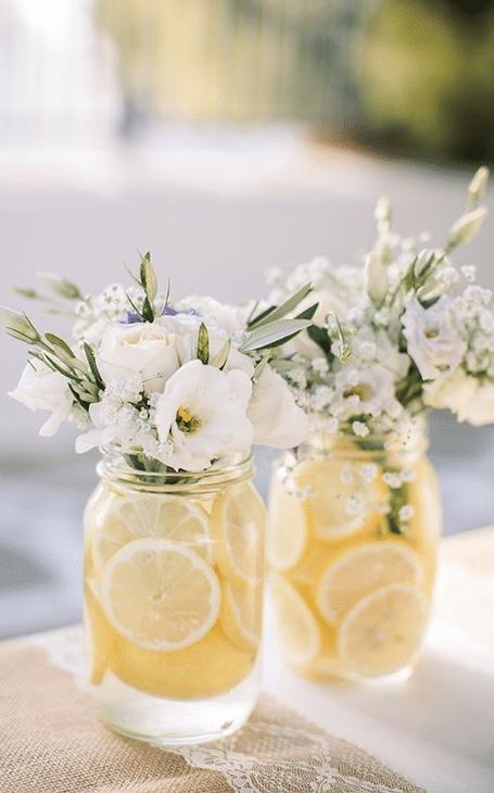 déco table printemps vase citrons