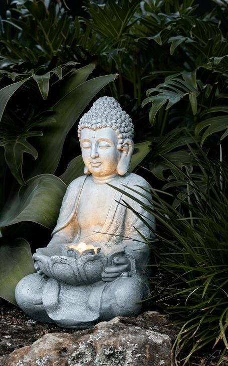 élément déco bouddha et lumière