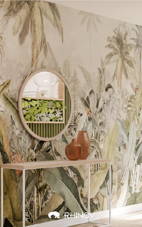 papier peint tropiques