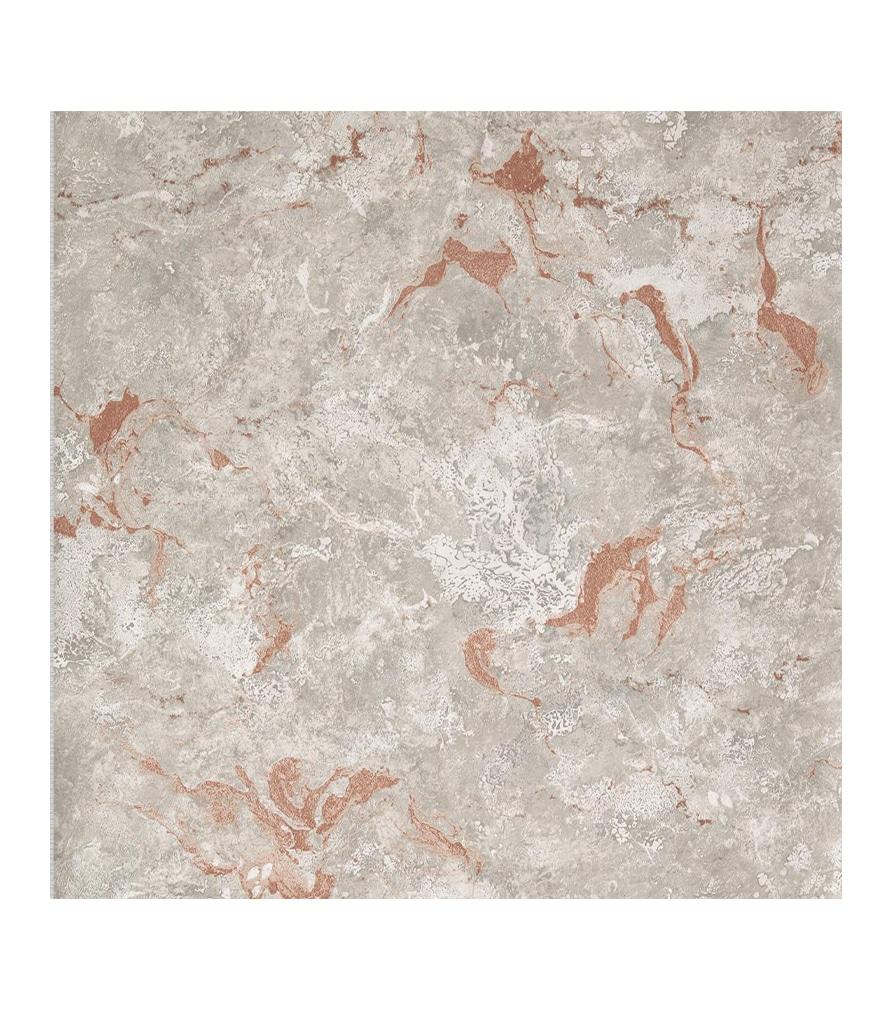 Papier peint Effet Marbré gris terracotta - Lutèce