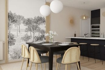 papier peint salle à manger