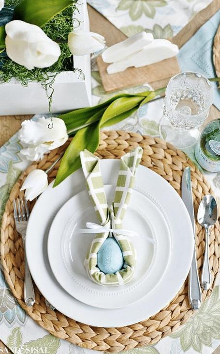 déco table printemps paques