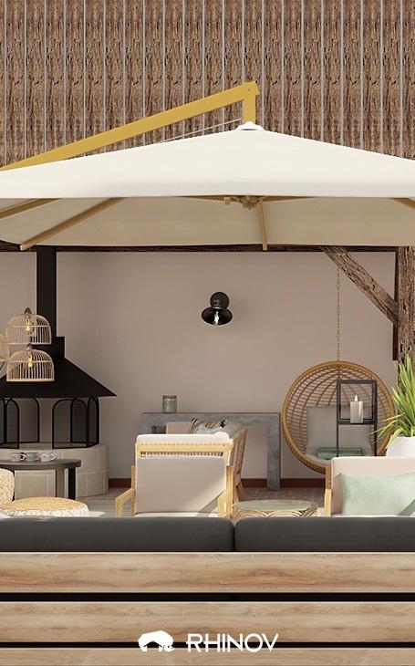 parasol design extérieur
