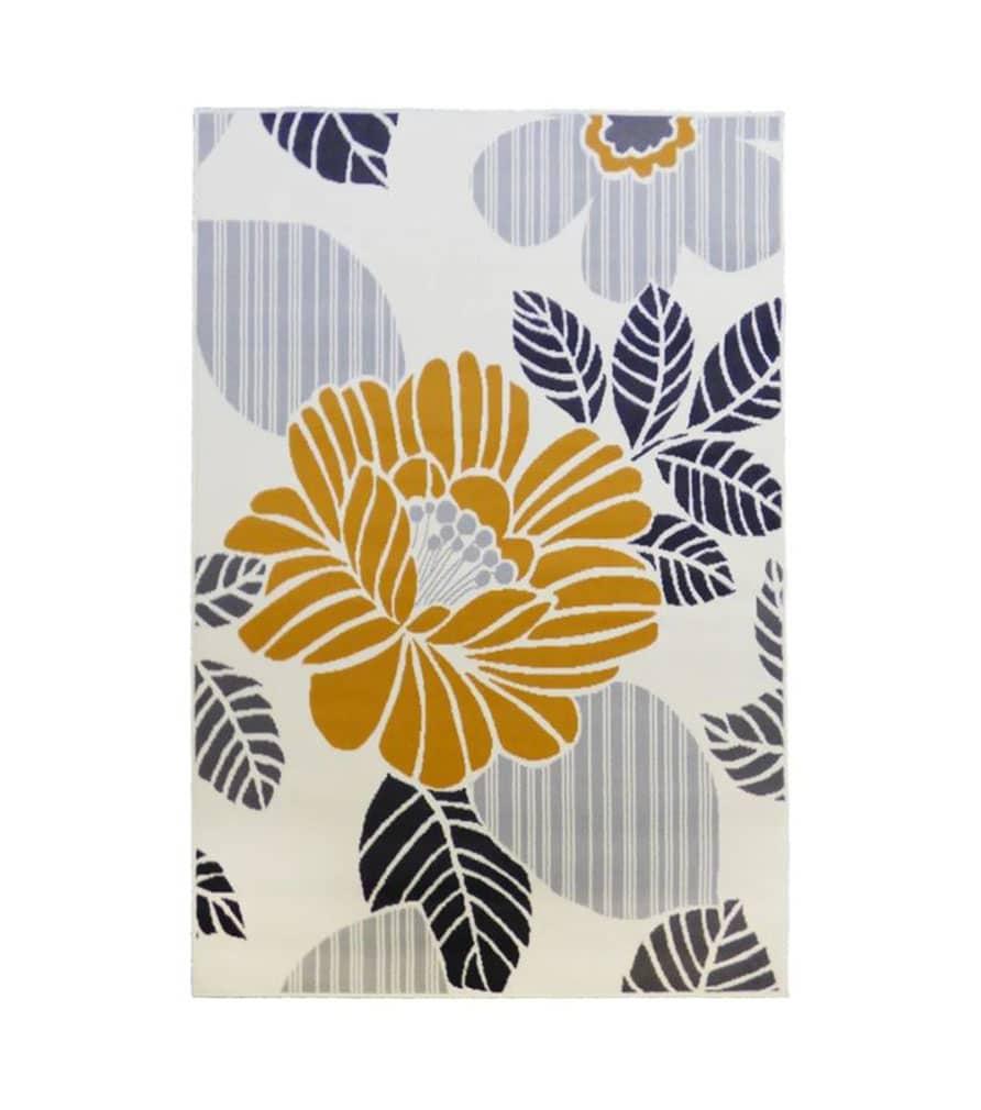 Tapis fleurs design