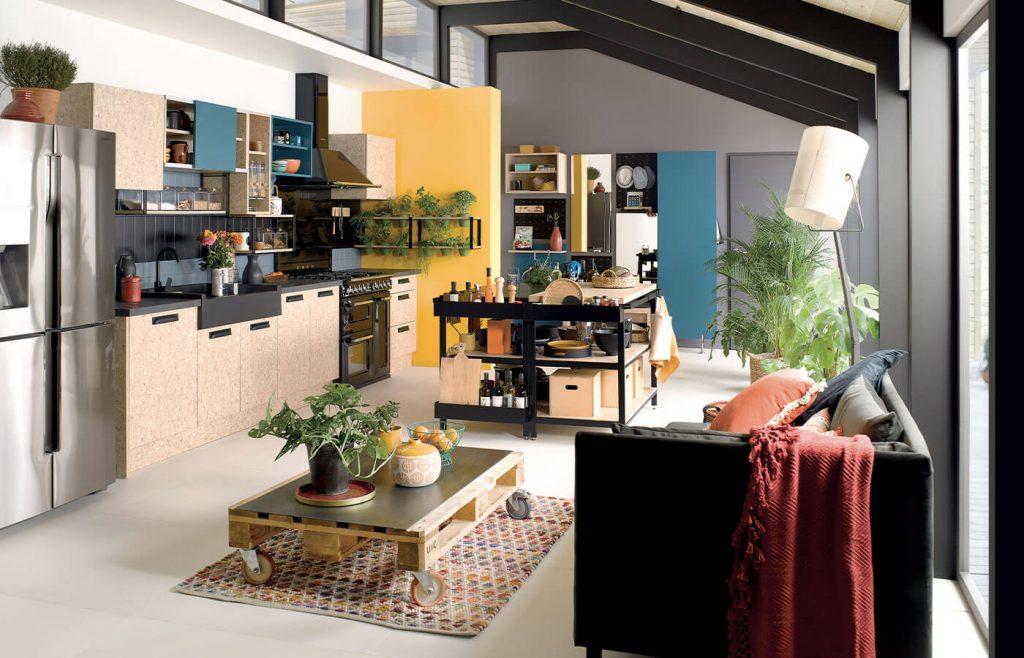 volumes plafonds cuisine ouverte