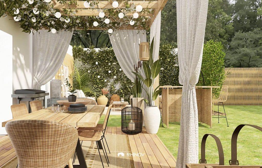 des rideaux en deco jardin pinterest