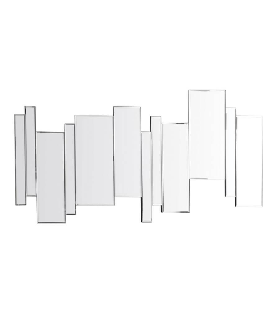 AXEL - Miroir multiple barres décalées en verre argenté 140x70