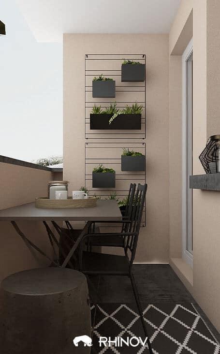 aménagement balcon etroit