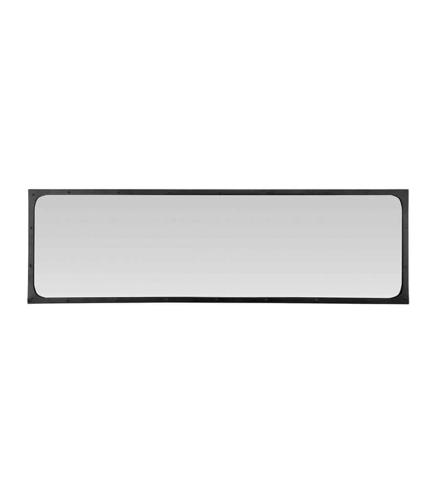 RIVETS - Miroir industriel avec rivets en métal noir 140x40