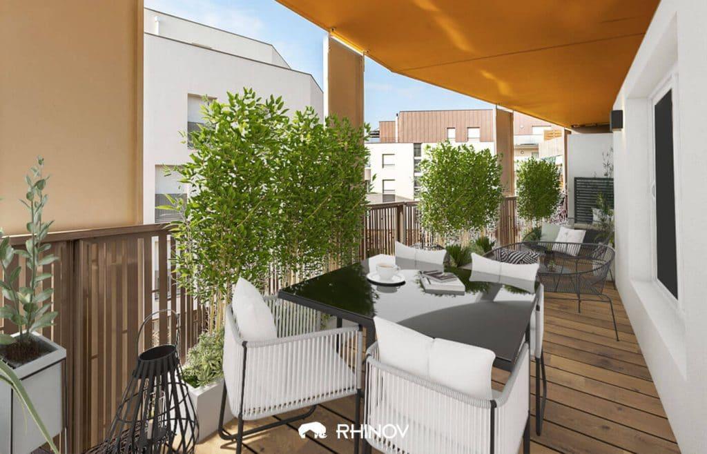 aménagement balcon filant