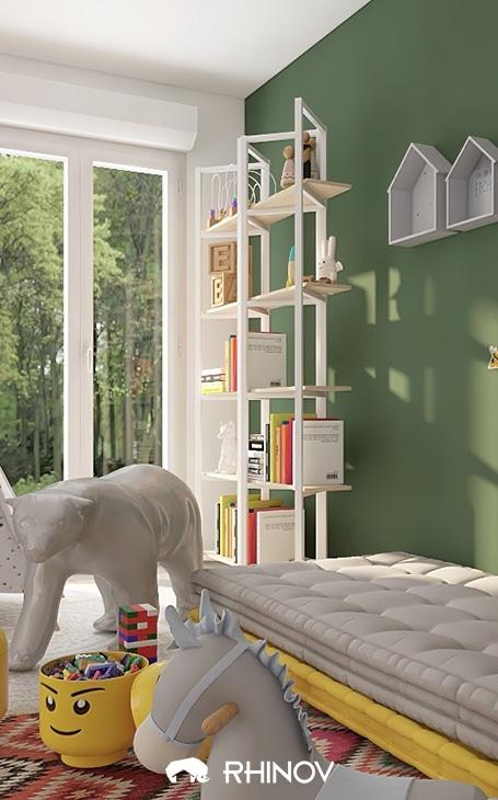 mur couleur verte déco