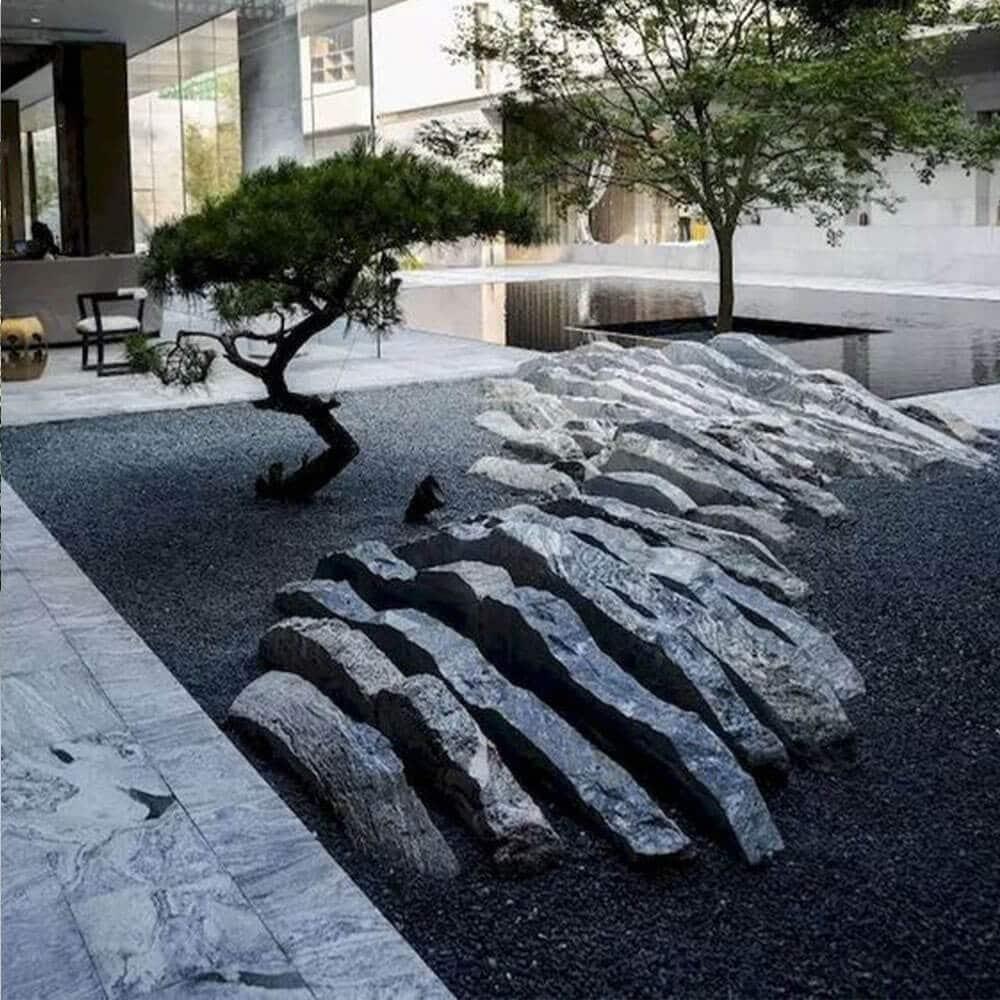 deco pierre et roches jardin