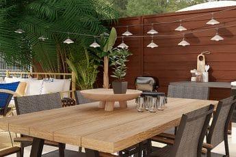 decoration table jardin