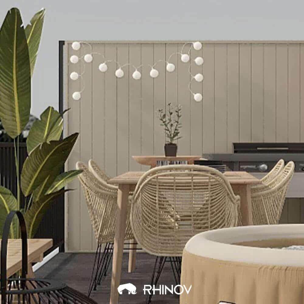 décoration balcon lumineux