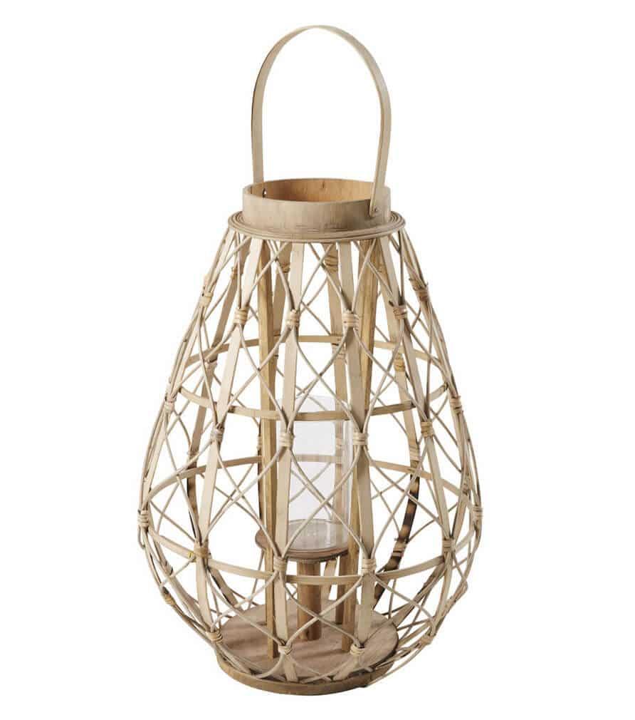 BELEM - Lanterne en bambou et verre
