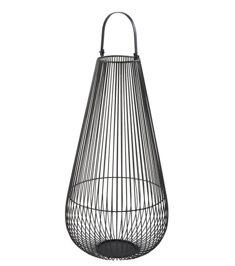 MOMBASA - Lanterne filaire noire