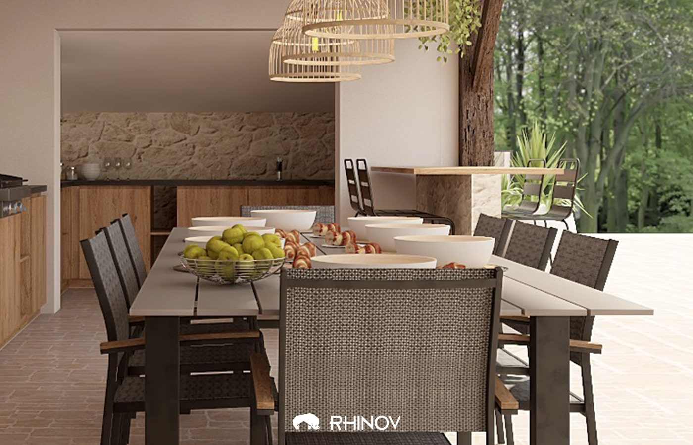 deco table jardin