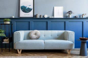 Mur gris bleu Unikalo
