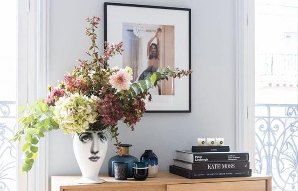 déco haussmanienne fleurs