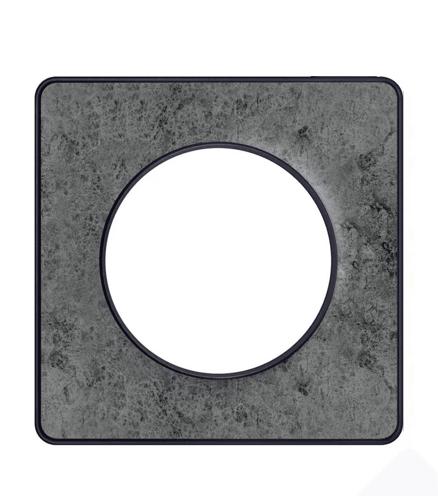 Plaque de finition Odace Galet pour interrupteur - Schneider Electric