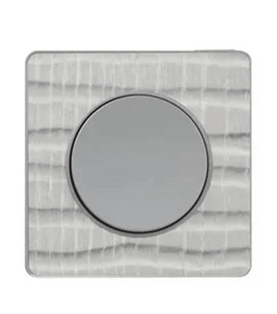 Plaque de finition Odace Touch brossé croco liseré aluminium pour interrupteur