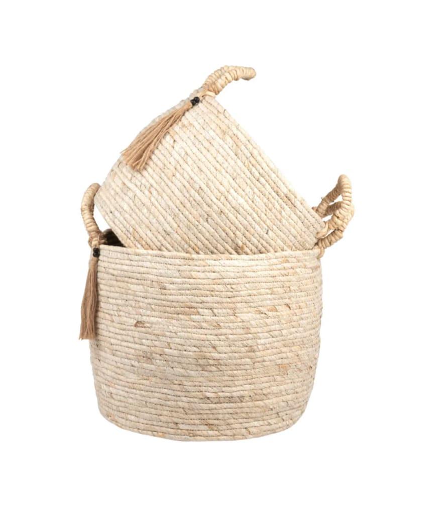 Paniers en fibre de maïs