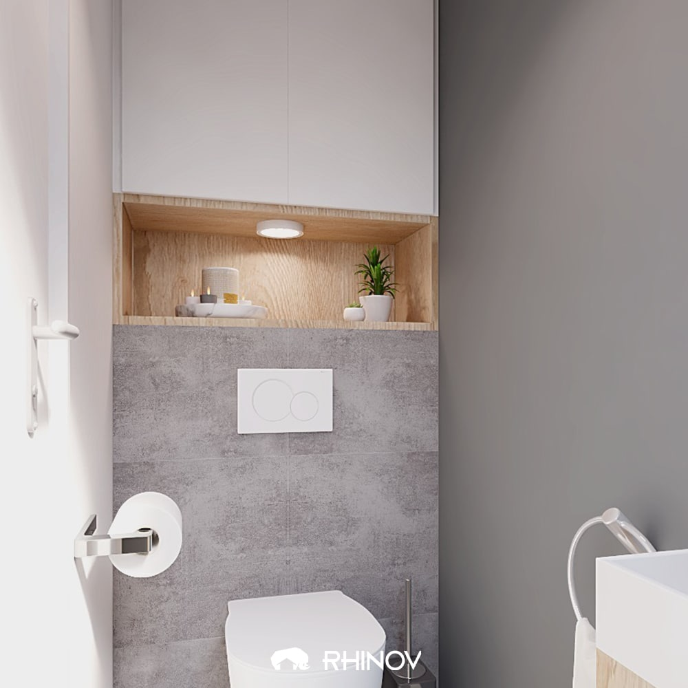 aménagement wc suspendu