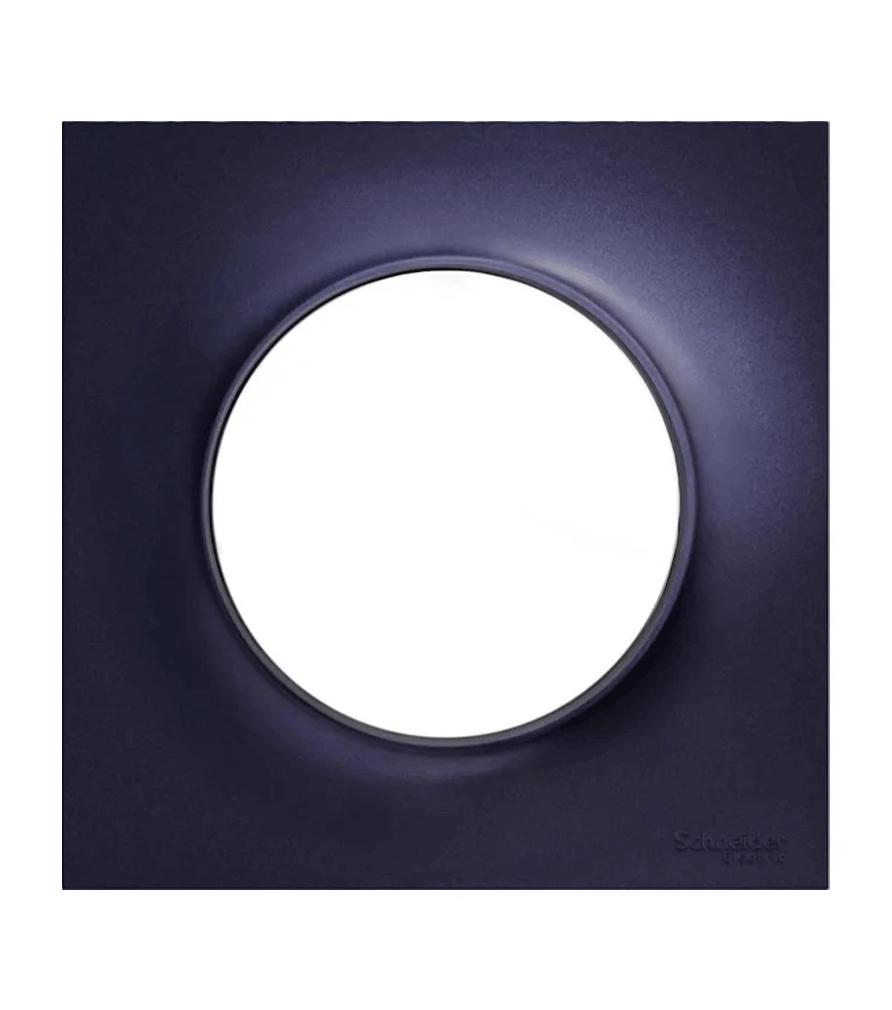 Plaque de finition Odace styl anthracite pour interrupteur - Schneider Electric