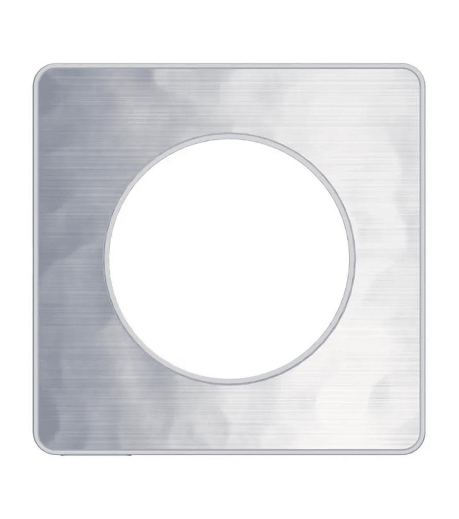 Plaque de finition Odace aluminium martelé pour interrupteur - Schneider
