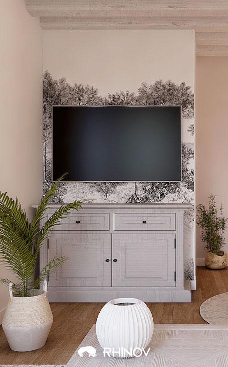 du papier peint panoramique dans un intérieur style victorien