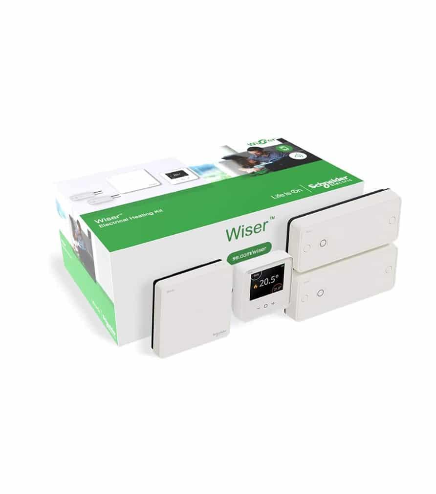 Kit thermostat connecté + 2 actionneurs de radiateurs électriques Wiser SCHNEIDER ELECTRIC