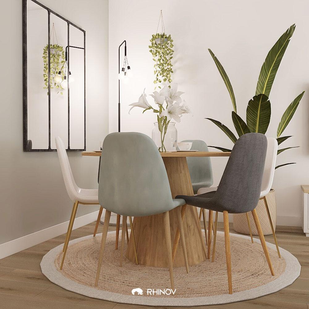 table ronde salle à manger séjour
