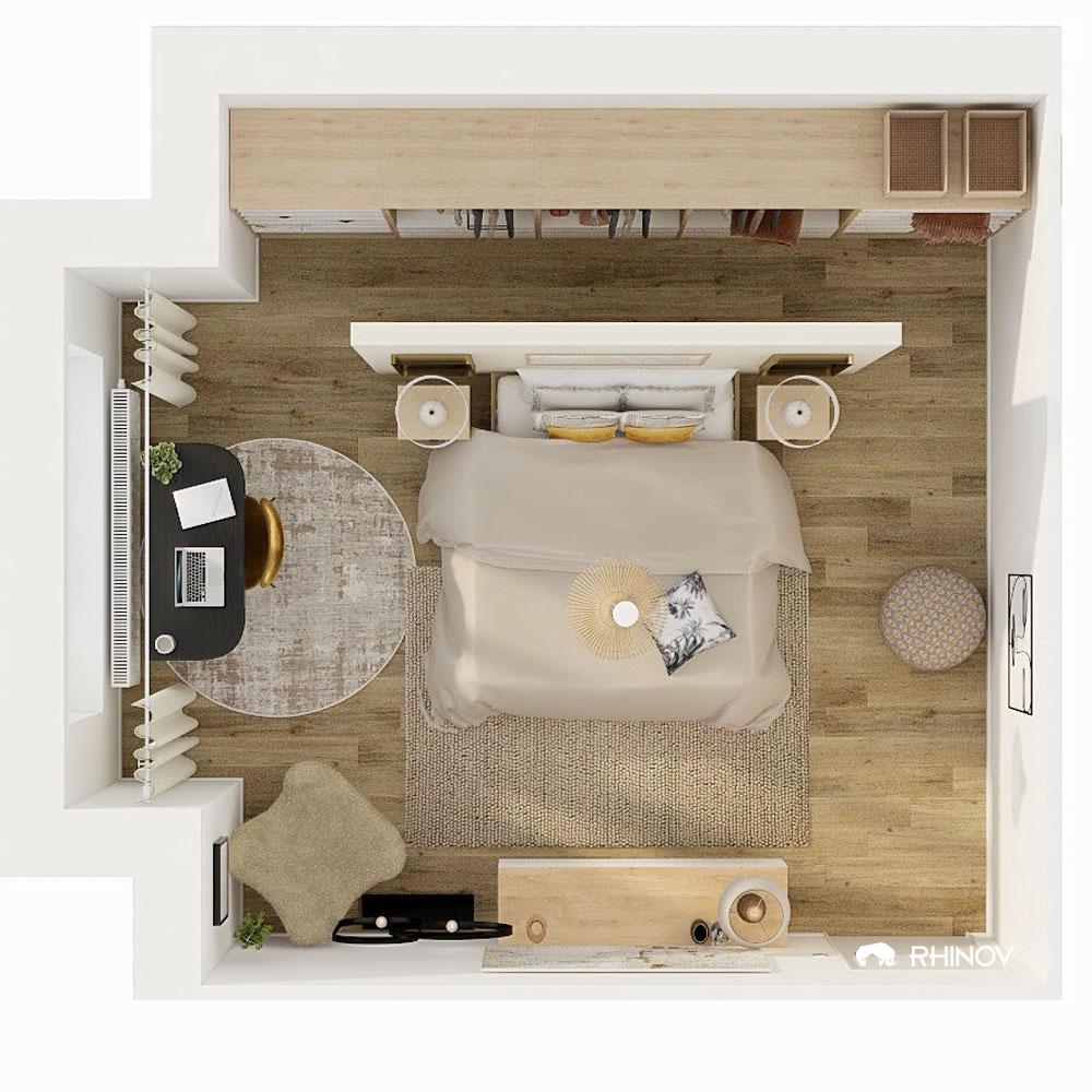 astuces déco aménagement chambre beige
