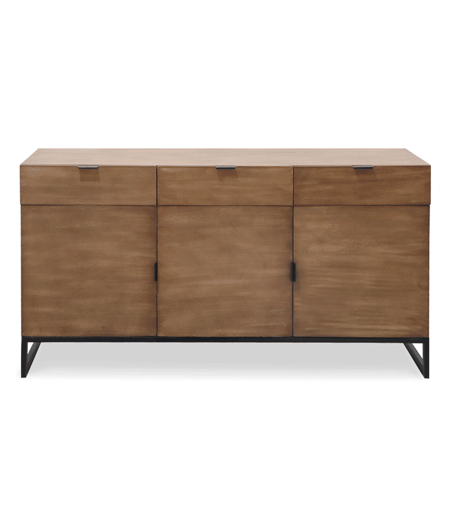 PANARA - Buffet 3 portes et 3 tiroirs en bois de chêne clair