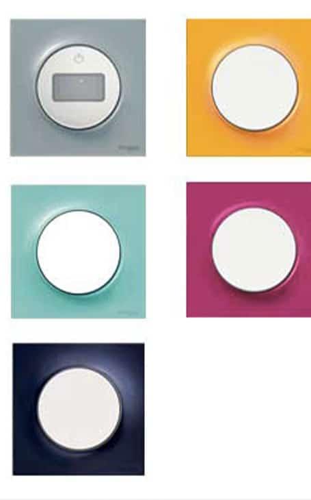 interrupteurs colorés et variés Odace