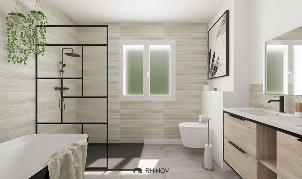 salle de bains isolée