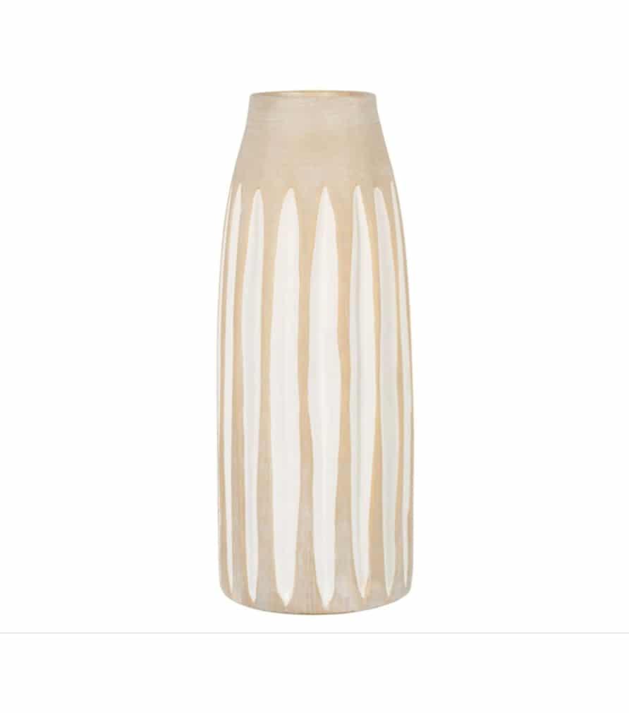 Vase en grès beige