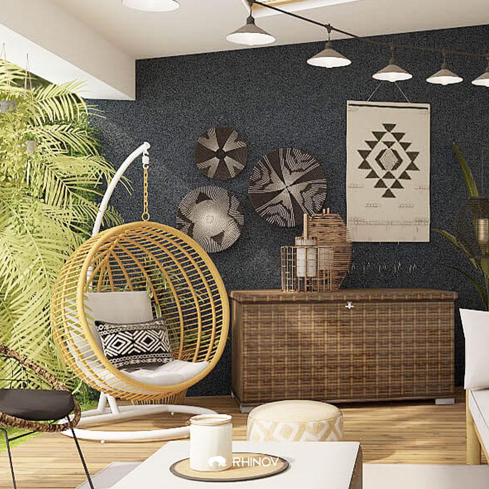 fauteuil suspendu décoration ethnique