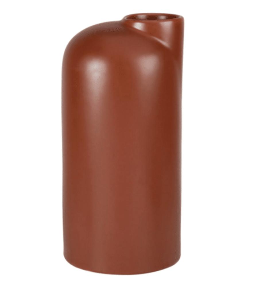 VASE - Marron en grès