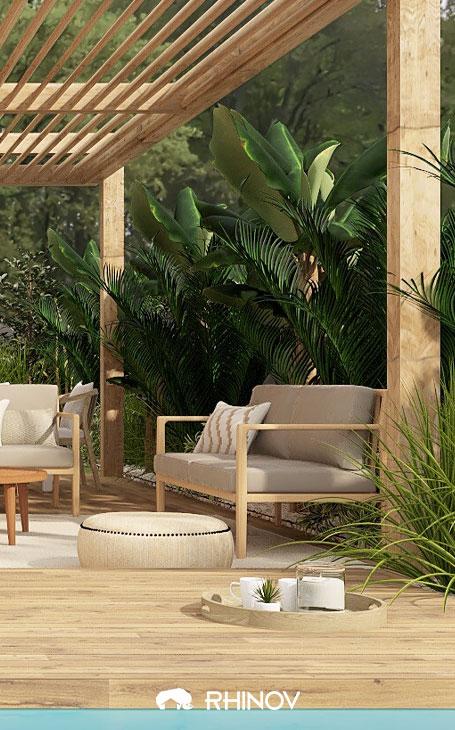 aménagement terrasse avec végétaux