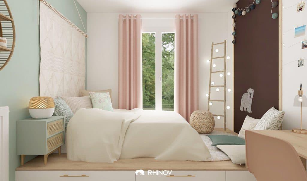chambre couleurs pastel