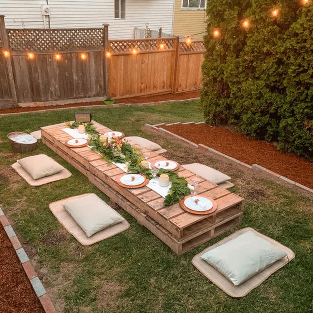 astuce décoration jardin récup