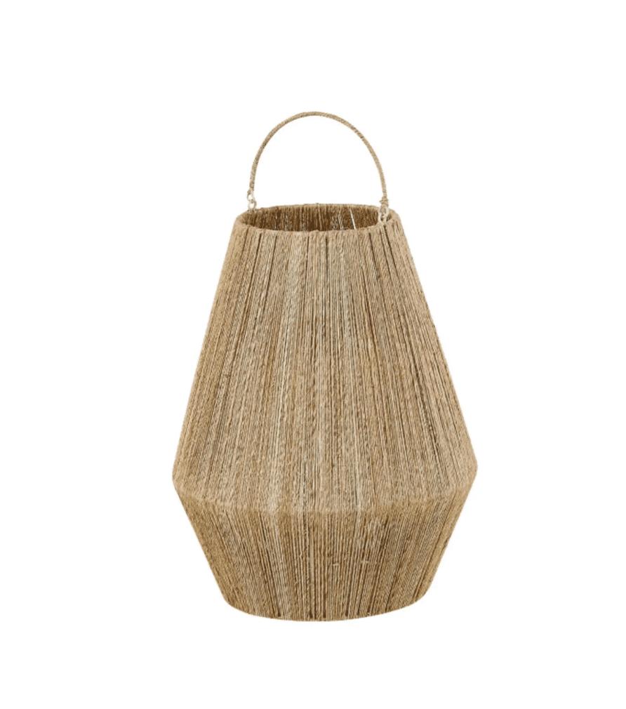 ANAYA - Lanterne en jute et métal