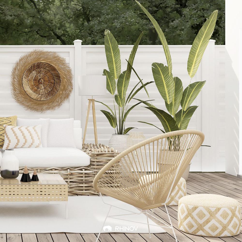 devant la maison des meubles naturels