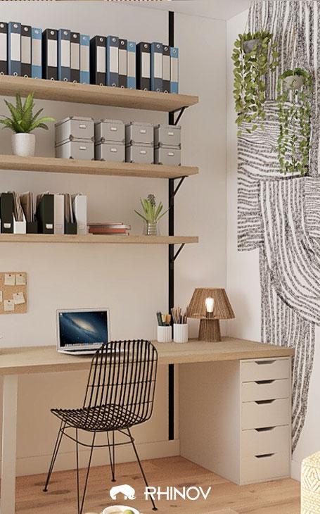 pinterest bureau etagères faites maison